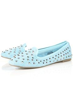 Canvas studded slippers from Topshop