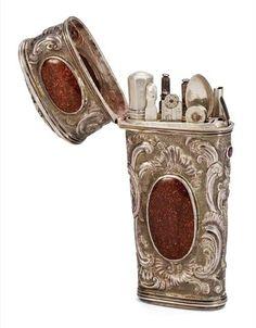 Antique Dressing Table Sets, Nécessaires, Travel Cases For Ladies and Gentlemen   Interior Design Files