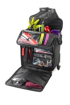 """The ultimate rolling tote for organizing all your beauty supplies #""""BeautySupplies"""""""