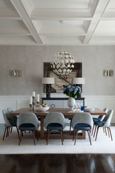 Grey dining room…it is not boring at all! We prove it! See more at spotools.com