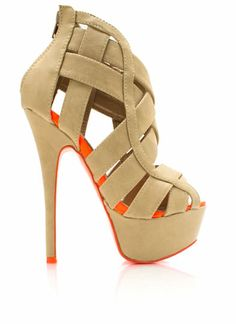 2c164c0c253 ETA to customer receipt  Two tone strappy heels will make you  unforgettable! Features a peep toe