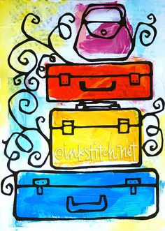 post-card-art-luggage by inkstitch, via Flickr