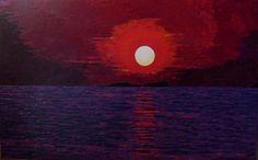 Titulo: crepusculo en rojo, óleo sobre tela, 116 x 73, 1900 €