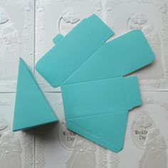 Mint Robin Blue Gift Bag Favour Bag Triangle paper wedding decor favour bag-birthday party decor (per 10) by sophieliu2 on Etsy