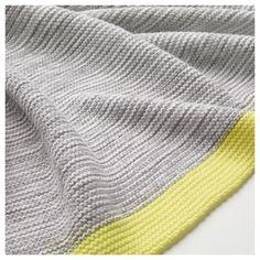 IKEA - LISAMARI Throw light gray, yellow