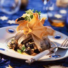 Découvrez la recette des aumônières d'escargots au vermouth