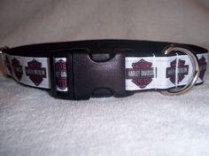 Harley Davidson Inspired Dog Collar by DoggieStylz on Etsy, $16.00