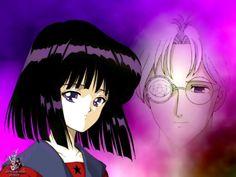 Hotaru Tomoe and her father Professor Tomoe.  (Sailor Moon S)