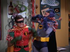 Adam West as 'Batman' and Burt Ward as 'Robin' on the 1960's 'Batman TV show'