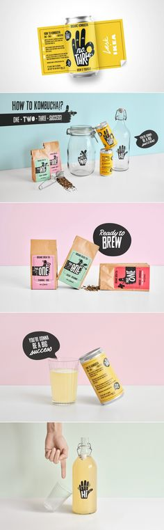 Læsk & Creative Agency Everland Design Kombucha Homebrewing Kit For IKEA | Dieline