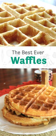 Brunch isn't complete without a round of waffles to share.