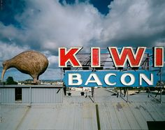 Kiwi Bacon Factory roof, Kingsland, photo © Geoffrey H. All Things New, Old Things, Christchurch New Zealand, State Of Arizona, Kiwiana, The Beautiful Country, Beach Fun, Auckland, Vintage Posters
