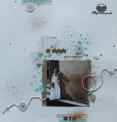 Magical Scrapworld: My wedding Stampin' Up! layout