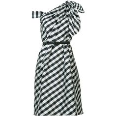Carolina Herrera - plaid taffeta one shoulder dress - women -... (2.098.635 CRC) ❤ liked on Polyvore featuring dresses, black, plaid taffeta dress, off one shoulder dress, plaid cocktail dresses, carolina herrera dresses and plaid dress