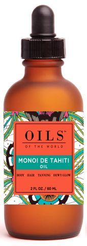 Oil - Tahiti Monoi Oil. www.oilsoftheworld.co. Hydrating, Moisturizing, Anti-aging, Nutrient Super Rich for skin and fantastic for Hair