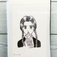 Wednesday Addams manga version - by Ilaria Guinness ART https://www.facebook.com/TKPLips.manga/