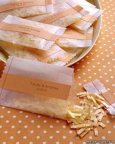 Vanishing Wedding Confetti