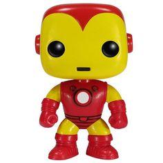 Statuetta decorativa Iron Man di Marvel Comics del brand Funko collezione Bobble Head.