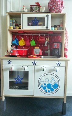 Ikea Play Kitchen, Customised For My Star Chefs.