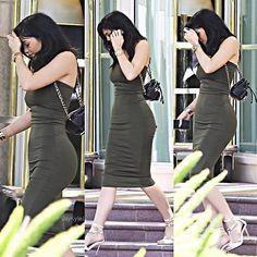 Walking in a green tank dress from Sorella Mean.   - ELLE.com