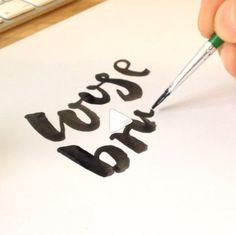 Loose brush lettering