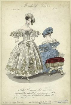 """Modes de Paris"", Petit Courrier des Dames, March 1834; NYPL 802096"