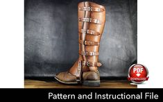 Gaiters Pattern Cosplay DIY Pdf Download Cosplay Pattern