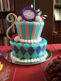 Mad Hatter Tea Party Cake Bridal Shower Idea