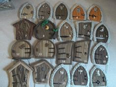 Miniatures for fairy gardens or Terrariums accessories:  Made to order 2 3/4 in to 3 1/4 fairy door via Etsy