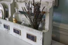 Cool Shabby White Cottage Pallet Organizer Plate/Wine or by funkiefinds