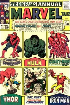 MARVEL TALES 1, What an inviting Silver Age cover of the early Marvel milestones
