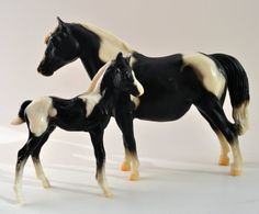 Classic BREYER Mare and Foal Model Horse Set by TheVintageVagrant, $50.00