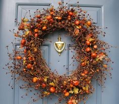 thanksgiving wreaths | Inspire Bohemia: Fall and Thanksgiving Wreaths
