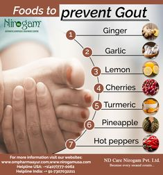 Avoid meat or seafood which have high purine levels and contribute to high levels of uric acid in the blood. Select from the below-mentioned list instead. Uric Acid Symptoms, Uric Acid Diet, Gout Diet, Gout Foods, Home Remedies For Gout, Natural Remedies For Gout, Gout Remedies, Foods That Cause Gout, Essential Oils For Gout