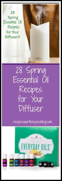Spring has sprung and there is nothing better than the fresh smells of springtime! The freshness in the air, the citrus blooms on the trees and the budding flowers are all so refreshing! It's time to open up those windows, let in the fresh air and get out your diffuser so you can start diffusing these relaxing essential oil recipes I've mixed up! #essentialoils #youngliving #diffuser #scent