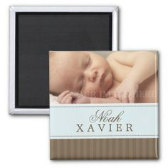 Blue and Brown Photo Frame Fridge Magnets