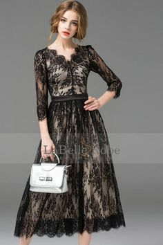 Shop Floryday for affordable Dresses. Floryday offers latest ladies' Dresses collections to fit every occasion. Vestidos Vintage, Vintage Dresses, Maid Dress, Buy Dress, Dress Skirt, Manga 3 4, Iranian Women Fashion, Cocktail Dresses Online, Sunday Dress