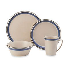 Mikasa Concord Cobalt Dinnerware Set (Pack of (Mikasa Concord Cobalt Dinnerware SET), Beige (Stoneware, Stripe) Stoneware Dinnerware Sets, Plastic Dinnerware, Porcelain Dinnerware, Tableware, Casual Dinnerware, Small Dining, Mikasa, Place Settings, Bedding Shop