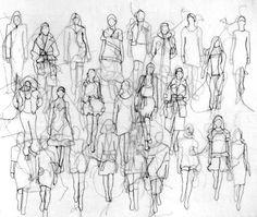 style.ized: inspiration today: stitch drawing