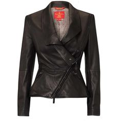 Vivienne Westwood Vivienne Westwood Black Leather Jacket ($1,880) ❤ liked on Polyvore