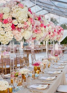 Tall wedding centerpieces | fabmood.com