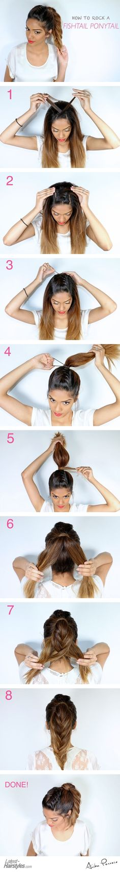 The Fishtail Ponytail Tutorial More