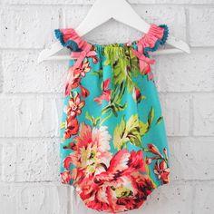 Handmade Summer Baby Girl Playsuit Romper - via DTLL.