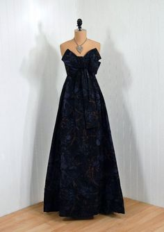 #vintage couture #Christian Dior Such a beautiful blue. 1950's Evening Dress