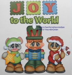 Premade Christmas Joy to the World Paper Piecing Set for Scrapbook Pages by Babs Scrapbook Titles, Scrapbook Cards, Scrapbooking Ideas, Amor Ideas, Paper Art, Paper Crafts, Christmas Scrapbook, Christmas Settings, Joy To The World