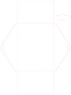 Traits de coupe et plis pour l'enveloppe.