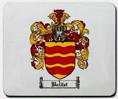 Baillet Family Shield / Coat of Arms Mouse Pad $11.99