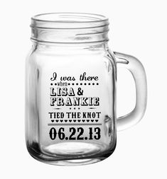 48- 12oz Custom Mason Jar Wedding Glasses. $169.00, via Etsy.