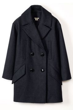 Big black coat with duble sets of buttons - Isabel Marant