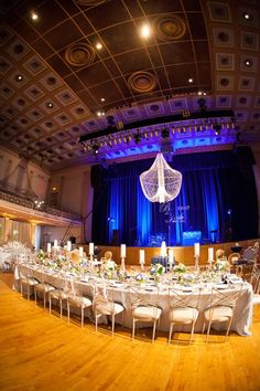 War Memorial Auditorium Reception. Nashville, TN. White, navy and gold color theme. Briana and Josh. Photo by Krista Lee